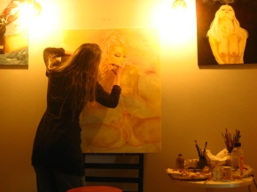 Painting by modern day candlelight!