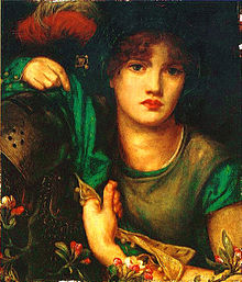 My Lady Greensleeves as depicted in an 1864 painting by Dante Gabriel Rossetti